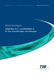 Abdichtungen - TIB Chemicals AG