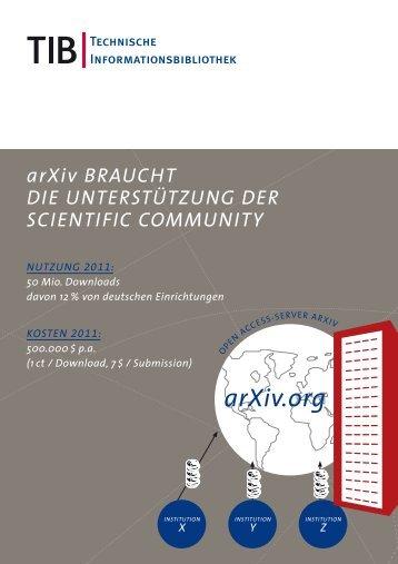 arXiv DH - Entwicklung eines Modells zur gemeinschaftlichen ... - TIB