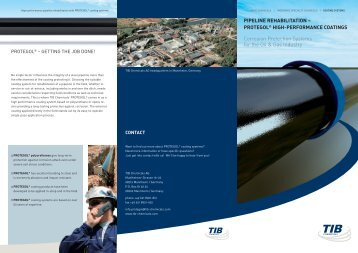 PIPELINE REHABILITATION – PROTEGOL ... - TIB Chemicals AG