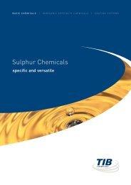 Sulphur Chemicals - TIB Chemicals AG