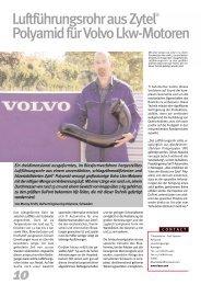 Luftführungsrohr aus Zytel® Polyamid für Volvo Lkw-Motoren