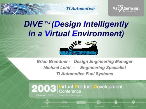 Dive Design Intelligently In A Virtual Msc Software