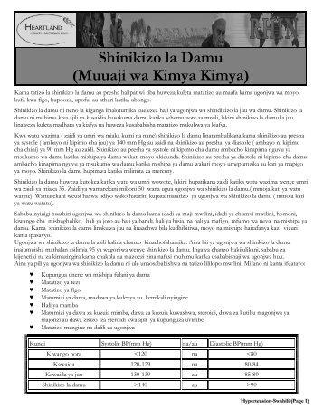 Shinikizo la Damu (Muuaji wa Kimya Kimya)