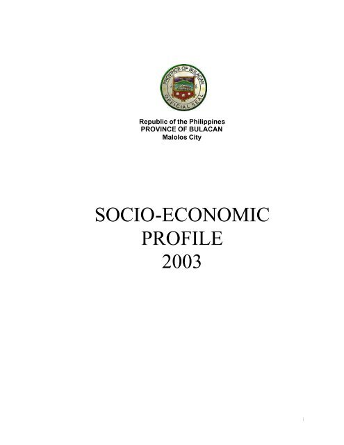 2003 Bulacan Socio-Economic Profile