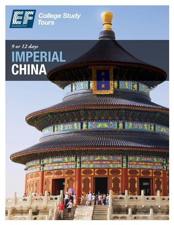 IMPERIAL CHINA - EF College Study Tours