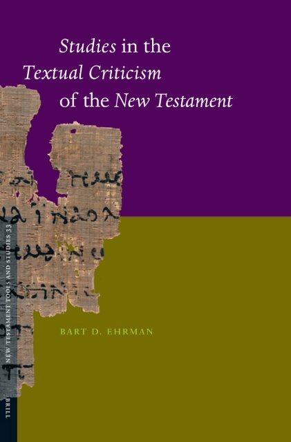 Studies in the Textual Criticism of the New Testament - Islamic Replies