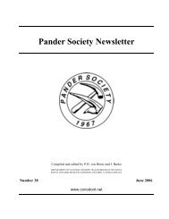 Pander Society Newsletter - University of Leicester