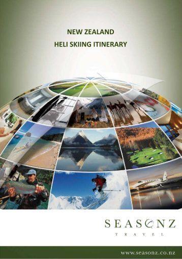 Seasonz sample itinerary - Heli Skiing
