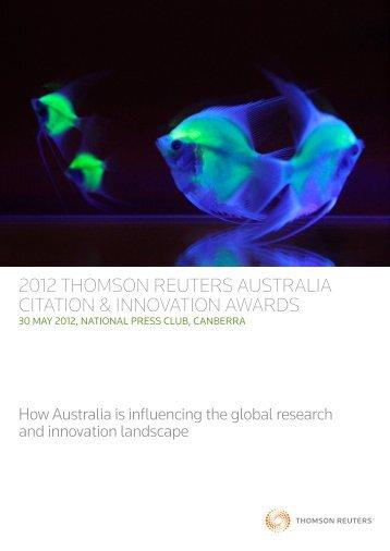 2012 thomson reuters australia citation & innovation awards
