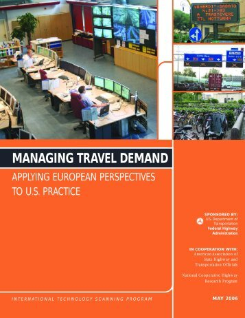 Managing Travel Demand: Applying European Perspectives to U.S. ...