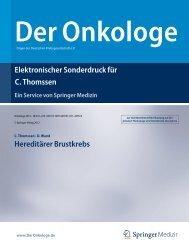 Elektronischer Sonderdruck für Hereditärer Brustkrebs C. Thomssen