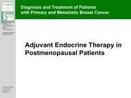Adjuvant Endocrine Therapy in Postmenopausal Patients