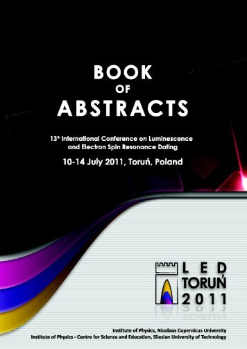 International Luminescence And Electron Spin Resonance Dating Conferences