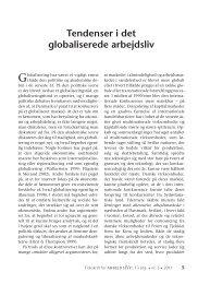 Tendenser i det globaliserede arbejdsliv - Nyt om Arbejdsliv