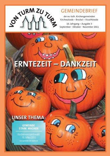 ERNTEZEIT – DANKZEIT - Kirchenkreis Rotenburg