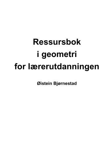Ressursbok i geometri for lærerutdanningen