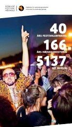 Oplevelsesdesign - Lyd og lys 4. Hovedfag - Roskilde Festival ...