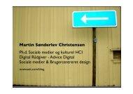 Martin Sønderlev Christensen Ph.d. Sociale medier ... - Social software
