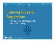 Canning Rules & Regulations - Thon