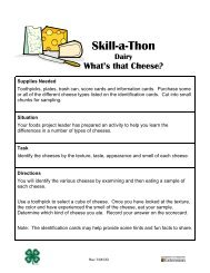 Skill-a-Thon Dairy What's that Cheese? - Missouri 4-H
