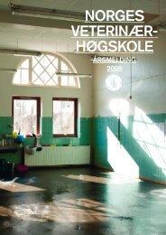 Årsmelding 2009 - Norges veterinærhøgskole