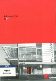 Jahresbericht 1996 - Eawag-Empa Library / Empa-Eawag Bibliothek
