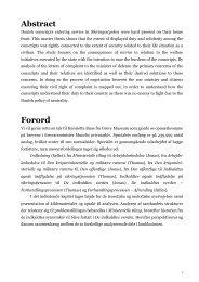Abstract Forord - Roskilde Universitet