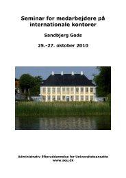 Seminar for medarbejdere på internationale kontorer - Administrativ ...