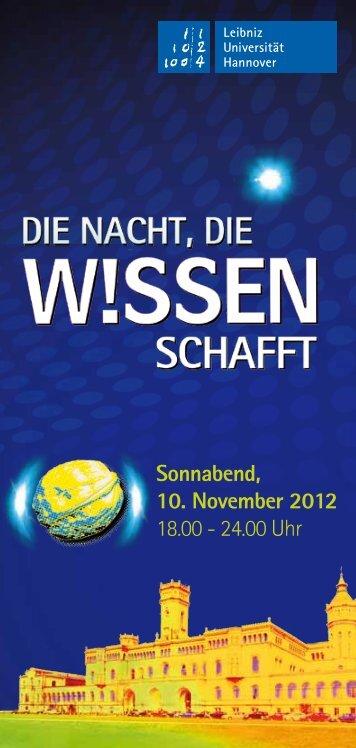 Sonnabend, 10. November 2012 18.00 - 24.00 Uhr - Fachgebiet ...