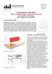 Dossier de presse - Paris Design Week