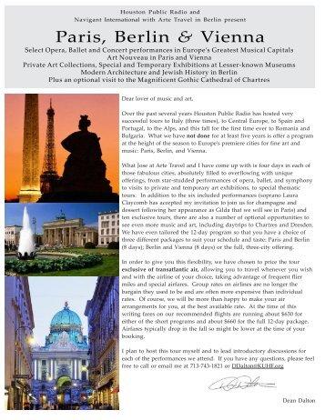 Paris, Berlin & Vienna - for KUHF