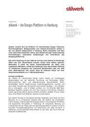 Basispressetext stilwerk Hamburg 2012