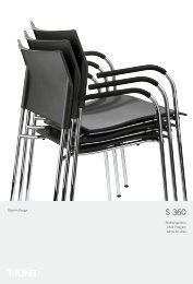 Stuhlprogramm Chair Program Gama de sillas Delphin Design Alle ...