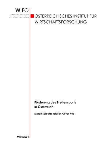 Förderung des Breitensports in Österreich - Sportministerium