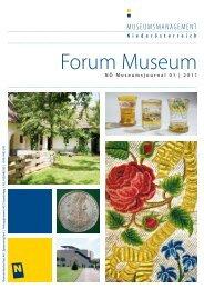 Forum Museum 2011-1 - Museumsmanagement Niederösterreich