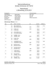 Mannschaftswertung Schüler-Schirennen 2011 ... - WSV Ludesch