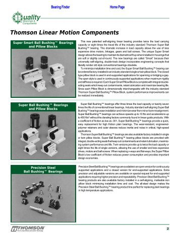 Thomson Linear Motion Components - Quality Bearings ...