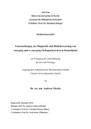 Untersuchungen zur Diagnostik und Risikobewertung von ... - RKI