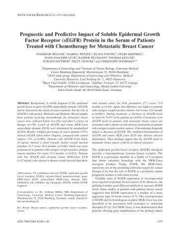 sEGFR - Anticancer Research