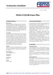 FEMA-COLOR-Faser-Plus - FEMA Farben + Putze GmbH