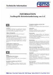 INFORMATION A B - FEMA Farben + Putze GmbH