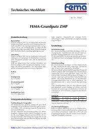 FEMA-Grundputz ZMP - FEMA Farben + Putze GmbH