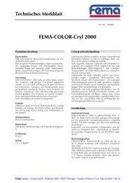 FEMA-COLOR-Cryl 2000 - FEMA Farben + Putze GmbH