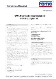 FEMA-Steinwolle-Dämmplatten PTP-B-035 plus  W - FEMA Farben + ...