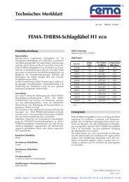 FEMA-THERM-Schlagdübel H1 eco - FEMA Farben + Putze GmbH