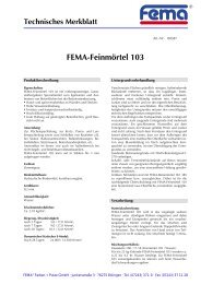 FEMA-Feinmörtel 103 - FEMA Farben + Putze GmbH