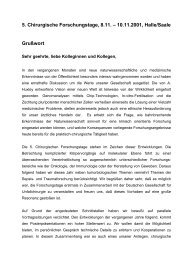 5. Chirurgische Forschungstage, 8.11. - University of Bonn - Medical ...