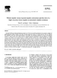 Whole-mantle versus layered mantle convection and the role of a ...