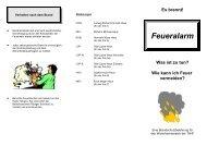 Hinweis zum Brandschutz und zum Verhalten im Alarmfall