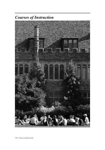 Courses of Instruction - Office of the Registrar - Duke University